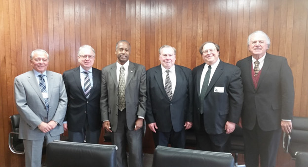 Left to right- Danny Ghorbani, James Shea Jr., HUD Secretary Dr. Benjamin Carson, Michael CappaertMark Weiss, John Bostick
