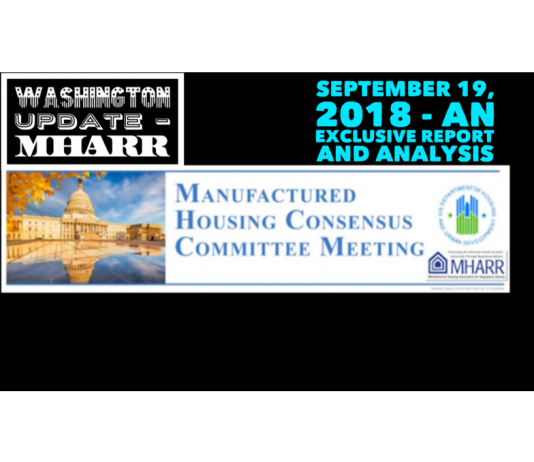 Washington Update - A 2 MHARR September 192018 - an Exclusive Report and Analysis