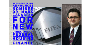 President Trump Announces Nominee Dr. Mark Calabria to Become New Director of Federal Housing Finance Agency-2