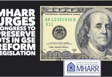 MHARR NEWS ITEM -- MHARR URGES CONGRESS TO PRESERVE DTS IN GSE REFORM LEGISLATION DBN
