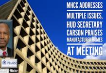 MHCCAddressesMultipleIssuesHUDSecretaryCarsonPraisesManufacturedHomesAtMeetingMHARRLogo
