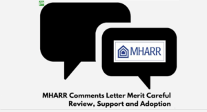 MHARRcommentsLetterMeritCarefulReviewSupportAdoptionManufacturedHomeProNews