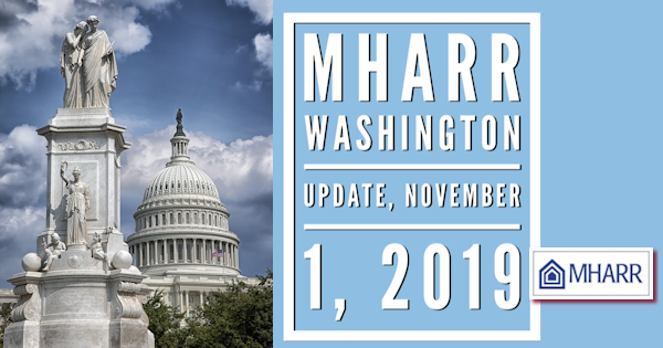 MHARRWashingtonUpdate11.1.2019ManufacturedHousingAssocRegulatoryReformLogo