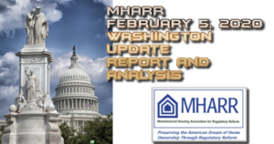 MHARRFeb52020WashingtonUpdateReportAnalysisManufacturedHomeProNews