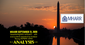 MHARRSept21.2020WASHINGTONupdateEXCLUSIVEManufacturedHousingReportAnalysisManufacturedHousingAssocRegulatoryReportAnalysisLogo