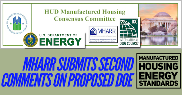 ManHousingAssocRegReformMHARRlogoSubmitsCommentsProposedDOE-ManufacturedHousingEnergyStandards